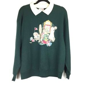VTG Attic Collectibles Collar Pullover Sweater